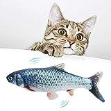 Queta Juguete Electrónico para Gato, Juguetes en Forma de Pez con Catnip, de Simulación Pescado Peluches, Juguete con Hierba Gatera, Juguetes Interactivos para Mascotas (Type3)
