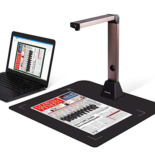 Document Camera iOCHOW S1, High Definition Portable Scanner, Only Support Windows, Capture Size A3, Multi-Language OCR for Office and Education Presentation