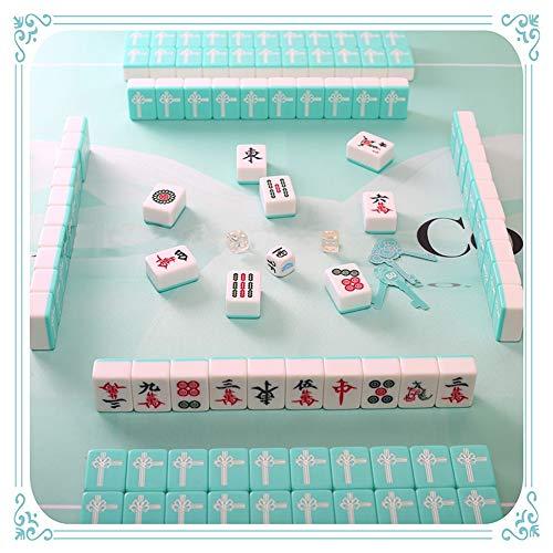 LSF Mahjong Mah Jongg Mini 144 Mahjong Fliesen Set Reisetafel Spiel Chinesische traditionelle Mahjong-Spiele, tragbare Größe und leichtes Gewicht (Size : 30mm)