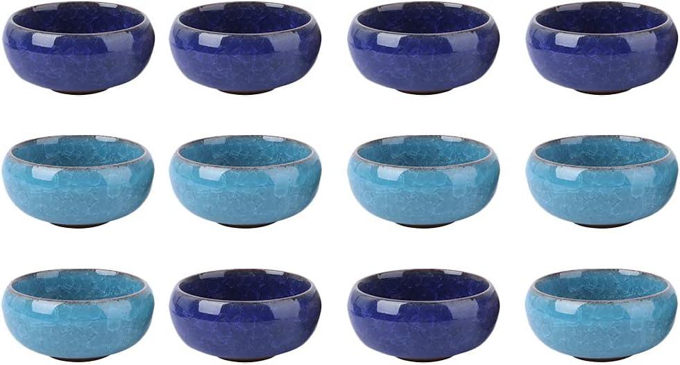 Happyyami Ceramic Flower Pot 12Pcs Flowerpot Ice P Crack Max 57% Quantity limited OFF Vintage