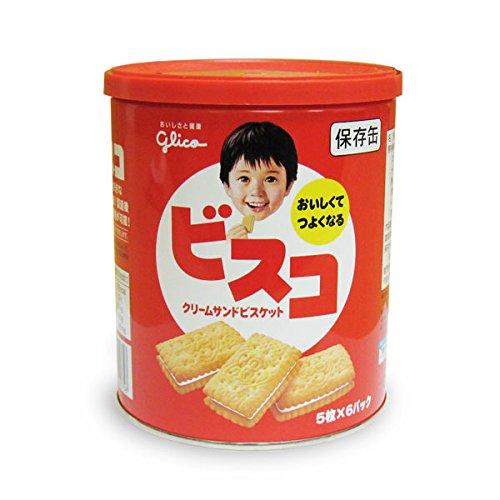 江崎グリコ『ビスコ クリームサンドビスケット 保存缶』