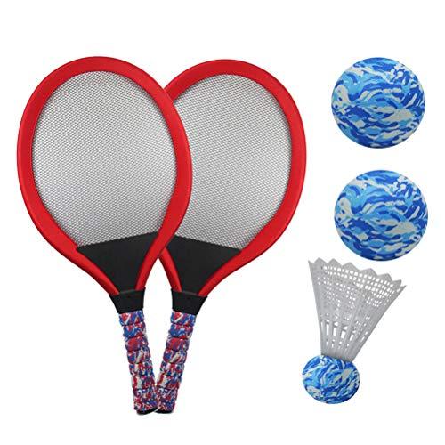 YIMORE Raquetas Tenis Badminton Racket Set Bolas Juguete