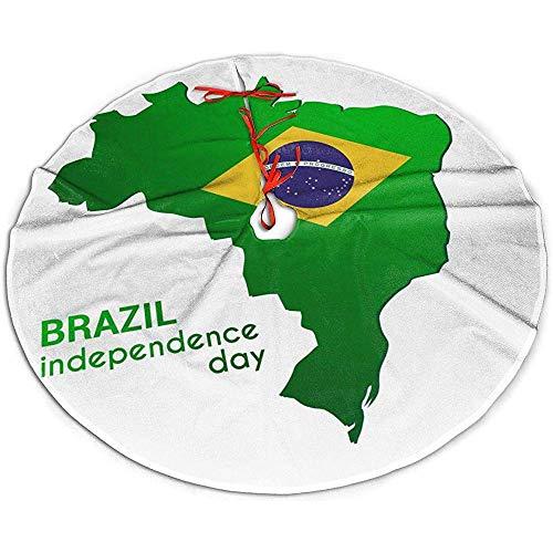 Egoa Kerstboom Rok Brazilië Onafhankelijkheid Dag Kaart Een Fijne Decoratieve Vakantie Kerstboom Rok Party Boom Rok Xmas Boom Rok 76cm