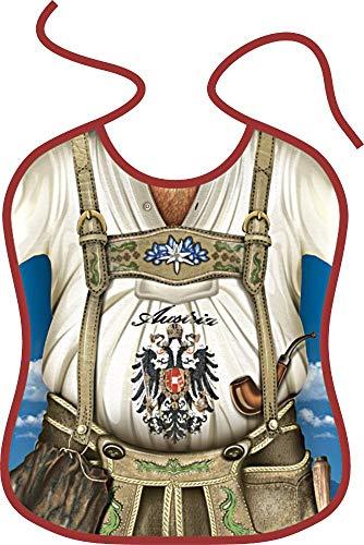 ITATI-Textilien Großes Erwachsenen Lätzchen = Tiroler = Lustiges Geschenk für den Tiroler unter Uns Lätzchen Latz für Erwachsene (BG-45006) Mitbringsel oder Männergeschenk geeignet Österreich