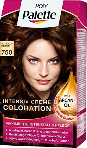 Poly Palette Intensiv Creme Coloration, 750 schokobraun, 3er Pack (3 x 1 Stückl)