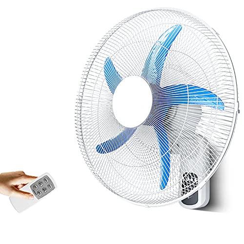 DBGA Ventiladores de Pared, Ventilador de Montaje en Pared Remoto de Refrigeración Eléctrica para el Hogar, Ventilador Oscilante para El Hogar del Dormitorio, Temporizado de 7,5 Horas para Cerrar