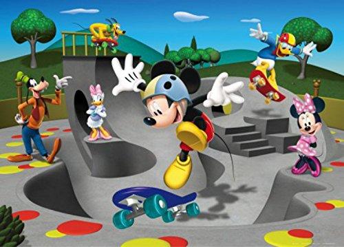 1art1 Micky Maus - Minni Maus, Donald Duck, Pluto Und Freunde, Skateboarden Fototapete Poster-Tapete 160 x 115 cm