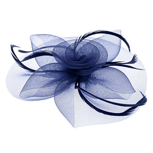 Blumen Fascinator, Braut Patei Kopfschmuck, Garn Braut Haarschmuck, Hochzeit Haar Clip Hut Stirnband, Haarclip Hairpin Haarband für Party Kirche Hochzeit
