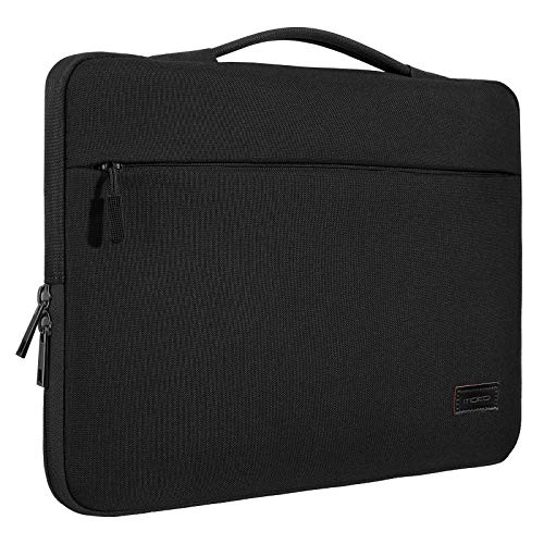 MoKo 13-13.3 Inch Laptop Sleeve Case Compatible with MacBook Air 13-inch Retina, MacBook Pro 13', HP Dell Acer Lenove Notebook Computer, Protective Carrying Bag with Pocket, Black
