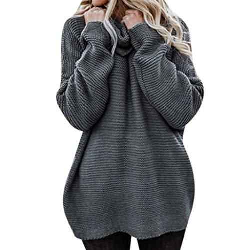 Jersey para Mujer con patrón Noruego suéter de Punto para otoño e Invierno Moda Invierno Mujer...