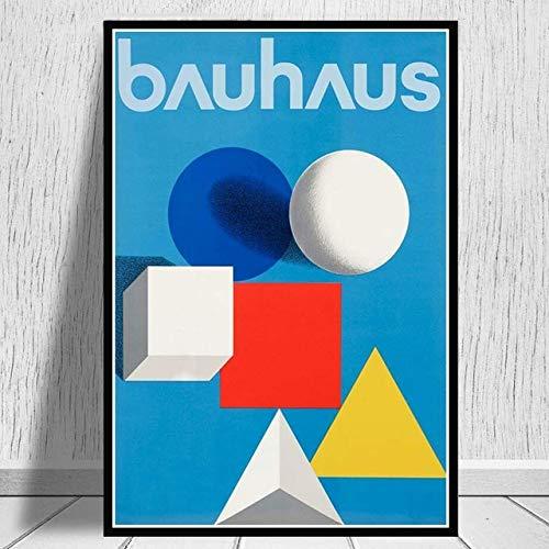 Bauhaus 1923 carteles de exposición de Weimer e impresiones cuadro de arte de pared cuadro de lienzo decorativo sin marco familiar K 40x50cm