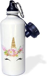 3dRose wb_289270_2 Water Bottle 21oz White