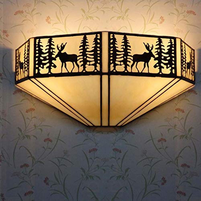 HEFEI Europische Wandleuchte Kunstglas Wandleuchte Hintergrund Wand Geschmack Farbe Halterung Licht XIAOXIAO (Gre   B)