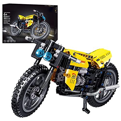 HEDI 382 bloques de construcción para motocicleta, compatible con Lego