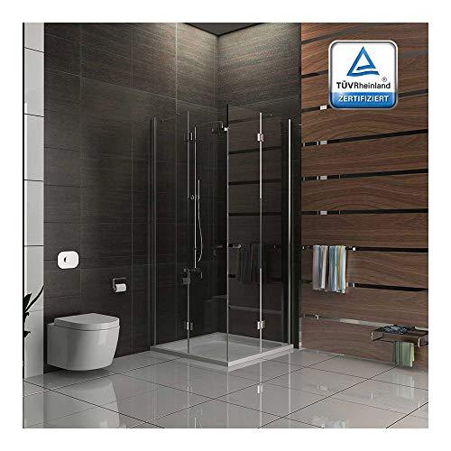 Cabina de ducha/ducha cuadro gimnasio/90 x 200 cm aprox ducha/cabina de ducha funshirt/alpen Berger/modelo Quadri Clear/cabina de ducha de cristal de seguridad