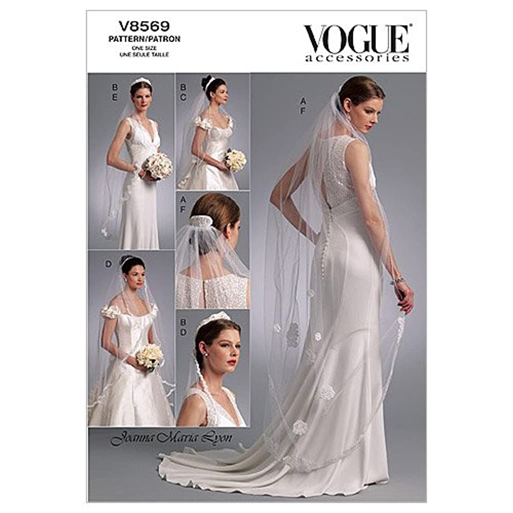 Vogue Bridal Pattern 8569 Headpieces, Tiara and Bridal Veils with Variations