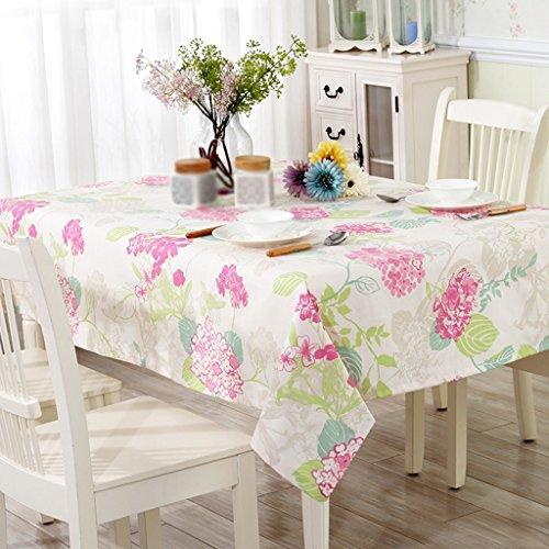 ASL Nappe fleur table de bureau table ronde salon nappe à café nappe de tissu en tissu ordinaire sélectionner (Couleur : #2, taille : 110 * 170CM)