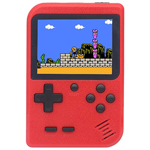 Retro Mini Game Machine,Handheld Game Console with 400 Classical FC Games 2.8-Inch Color Screen Support for TV Output , Gift Birthday for Kids, Adults (Gameboy Red)