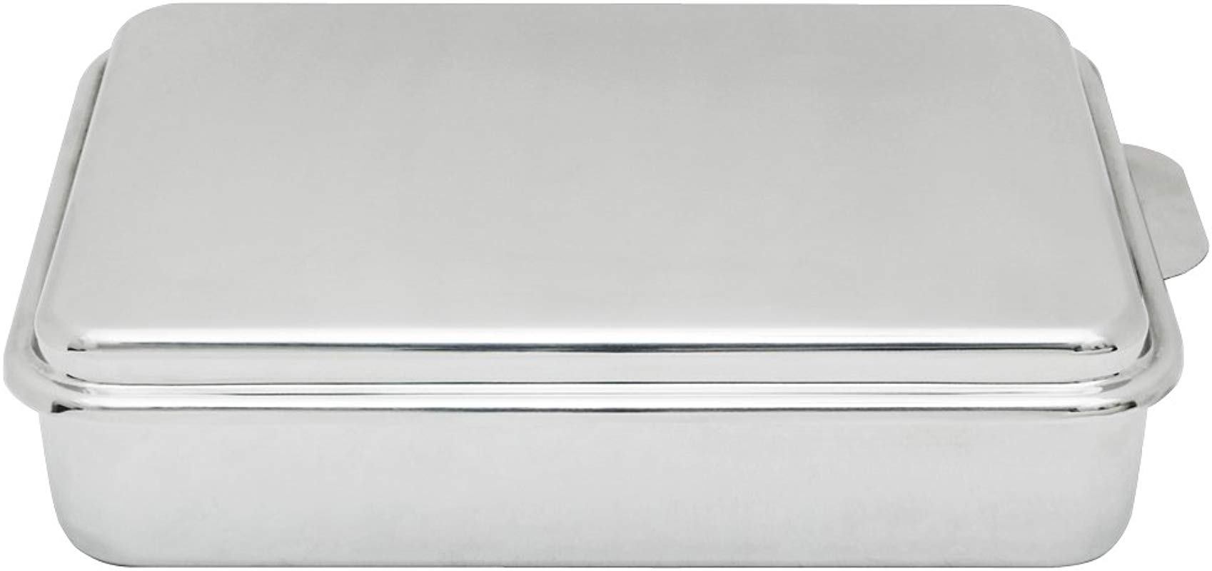 Lindy S Stainless Steel 9 X 13 Inches Covered Cake Pan Silver
