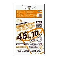 神戸市指定袋家庭用 容器包装プラスチック用 ECOTAI ECO 45L 0.025mm厚 10枚x60冊 透明
