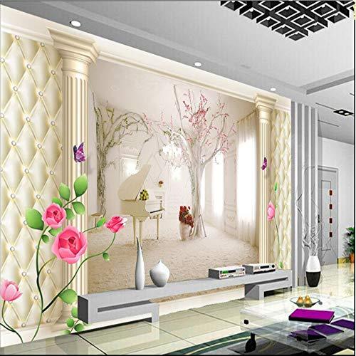 Shuangklei aangepaste foto muur muurschilderingen - 3D luxe kwaliteit Hd zachte Shell Romeinse Piano Extension ruimte boom zand muur fresco 120 cm.