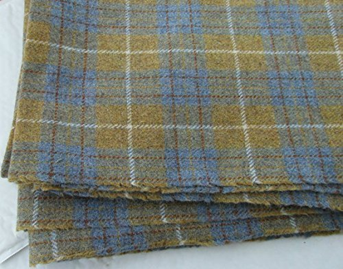 Authentic Harris Tweed Stoff 100% reine Wolle mit Etiketten.. 75cm x 50cm –-Nr. F17–--...