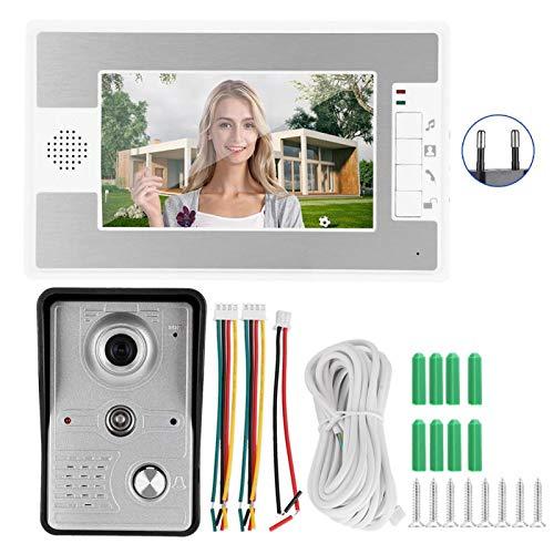 DAUERHAFT Videoportero con Cable 100-240V Intercomunicador Manos Libres montado en la Pared(European regulations)