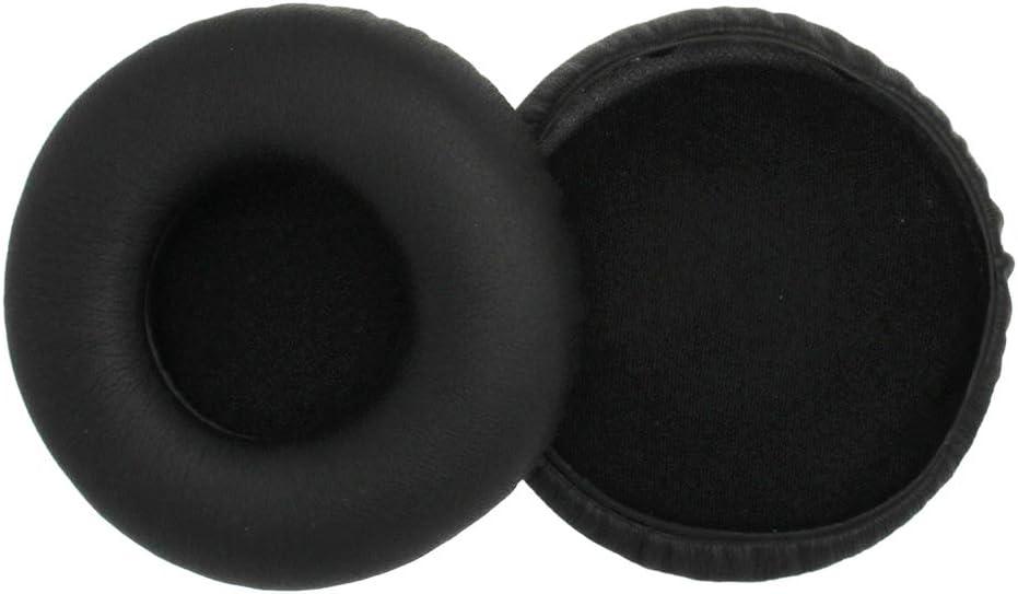 GLASSNOBLE Almohadillas oídos, 1 par de Almohadillas de Espuma Suave de imitación de Cuero para Auriculares AKG Y50 Y55 Y50BT, Negro