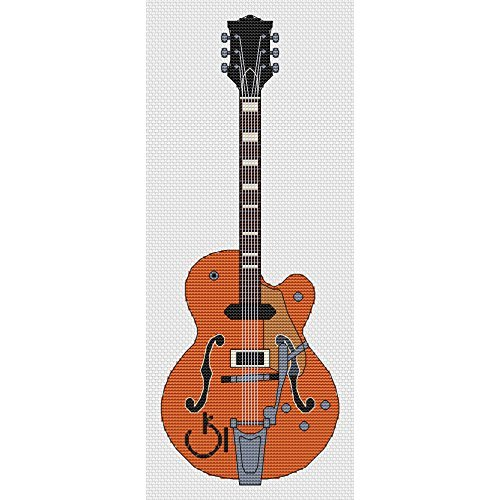 Gretsch Gitaar Cross Stitch Kit van Elite Designs