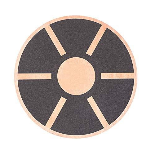 BCCDP Tabla de Equilibrio Plataforma de Equilibrio Profesional de Madera 39.5cm Antideslizante Redondo Disco para Ejercicio físico Fitness Entrenador Ejercicio Gimnasio Deporte