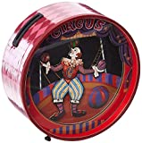 Musicbox Kingdom Money Box with Dancing Clowns to The Melody O Du Lieber Augustin Decorative Item