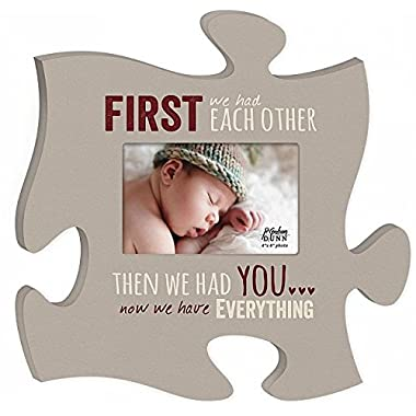 Now We Have Everything 4x6 Photo Frame Inspirational Puzzle Piece Wall Art Plaque