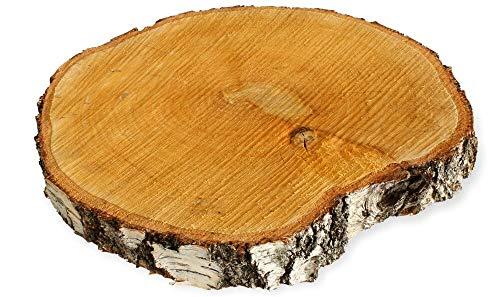 Deko Holzscheibe Birke rund 13-15cm 1Stück ca 2cm dick Holzscheibe Basteln Ast