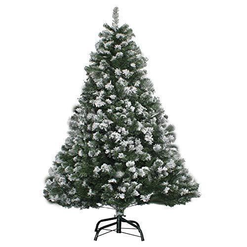 Andreas Dell Sapin de Noël 120-210cm Vert avec Neige Effet LED Arbre de Noël Artificiel Arbre de Noël/Sapin...
