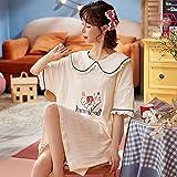 Pijamas de Mujer de Talla Grande M-4XL de Verano para Mujer, Ropa...
