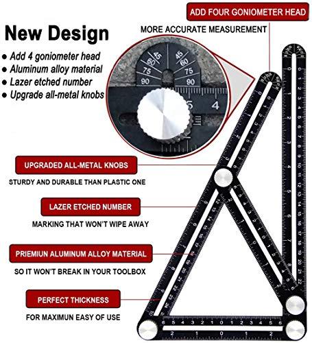 Universal Angularizer Ruler Template Tool Full Metal Multi Angle Measuring NEW