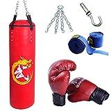 XHLLX Caja de Boxeo Set Kick Boxing Pesado MMA Entrenamiento con Guantes Clase Cadena Colgante Muay Thai