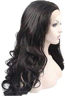 باروكة شعر طبيعي برازيلي ستايل مموج طويل لون اسود