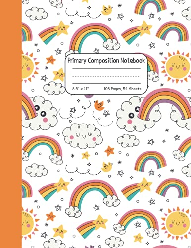 Primary Composition Notebook Grades K-2: Draw and Write Story Journal Exercise Book for Kindergarten Girls and Boys With Picture Space
