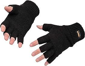 Portwest GL14 Vingerloze Gebreide Insulatex Handschoen, Zwart