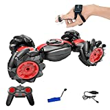 Gebuter Christmas RC Car Off-Road Vehicles Rock Crawler 2.4Ghz Remote Control Car Monster Truck 4WD Stunt RC Car Gesture Control Double Sided Twisting Vehicle Drift Driving Toy Gifts