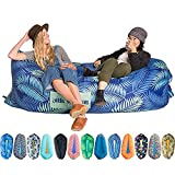 Chillbo Inflatable Lounger Air Sofa. Epic Inflatable Chair for Camping Accessories, Hiking Gear, Beach Gear, and Camping Gear - Inflatable Couch Designed for Camping Trips and Music Festivals.