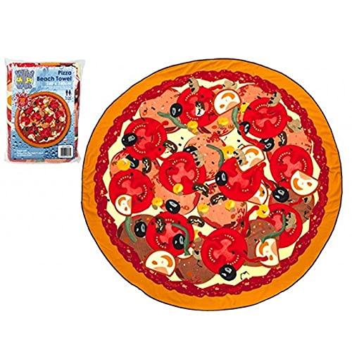 Toalla de Playa Redonda en Forma de Pizza, 140 x 140cm (56 x 56) (894002 Pizza)