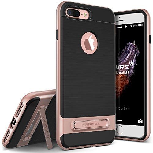 VRS Design High Pro Shield - Carcasa protectora para iPhone 6Plus, con acabado pulido, protección militar, con función atril de metal para Apple Iphone 7Plus de  2016, de color rosa dorado, negro, iPhone 7 Plus 5.5