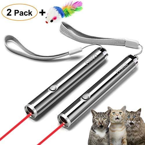 FYNIGO juguetes gatos juguetes interactivos para gatos y perros 2 en 1 Función(2 unidades)