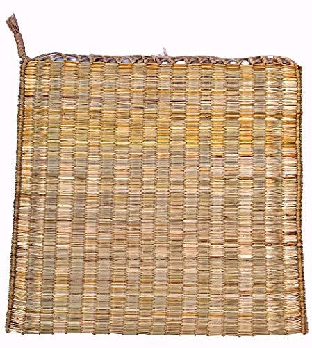 M/S UNIQUE ZONE Kusha Grass Aasan Natural Handmade Mat is for Puja Yoga Pranayam Meditation (50 x...