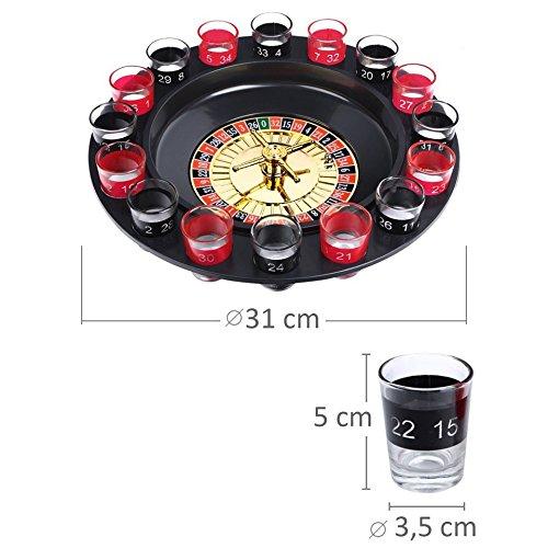 Schramm® Trinkspiel Roulette inkl. Geschenkverpackung Party Spiel Saufspiel für Erwachsene - 3
