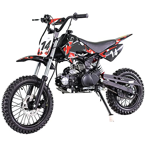 X-PRO 110cc Dirt Bike Pit Bike Kids Dirt Pitbike 110 Dirt Pit Bike,Red