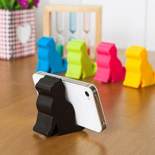 Soporte para teléfono móvil WanBeauty Lindo Mini gato forma teléfono tableta soporte soporte herramienta para iPhone iPad compatible con todos los teléfonos inteligentes