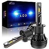H1 LED Headlight bulbs 6500K Xenon White 12000LM H1 LED Bulb Conversion Kit Adjustable Beam (Pack of 2)